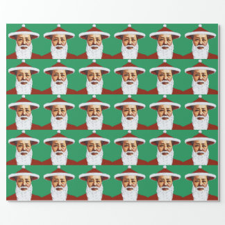Mao Merry Christmas Chinese Pop Art Santa Claus Wrapping Paper
