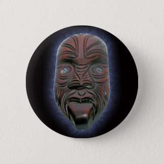 Maori Carved Mask - Button