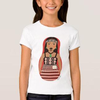 Maori Dancer Matryoshka Girls Baby Doll (Fitted) T-Shirt