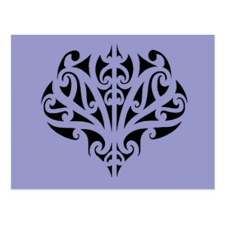Maori design post card