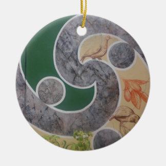 maori designs 5 ceramic ornament