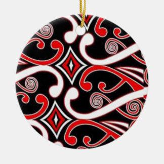 maori designs ceramic ornament
