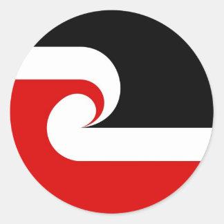 maori ethnic flag new zealand country round sticker