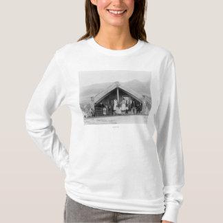 Maori Family at Home PhotographNew Zealand T-Shirt