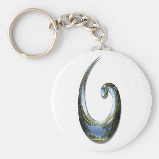 Maori Fish Hook - Chrome Keychains