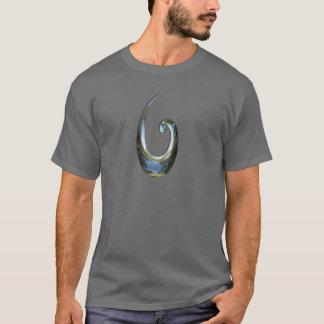 Maori Fish Hook - Chrome T-Shirt