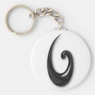 Maori-Fish Hook-obsidian Key Chains