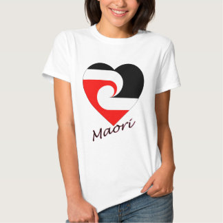 Maori Flag Heart T Shirts