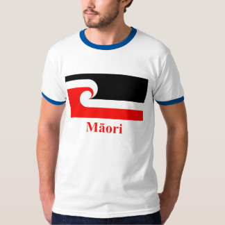 Maori Flag with Name in Maori T Shirts