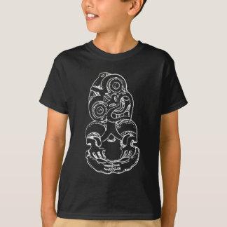 Maori Hei-Tiki Sketch - White T-Shirt