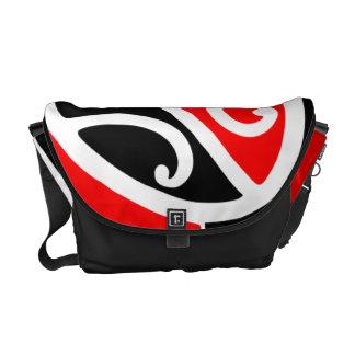 Maori Kowhaiwhai Pattern 2 Courier Bag