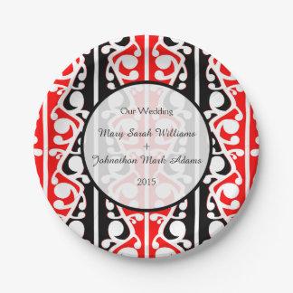 Maori Kowhaiwhai Wedding Keepsake Paper Plate
