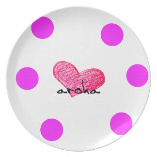 Maori Language of Love Design Plate