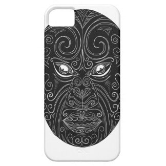 Maori Mask Scratchboard Barely There iPhone 5 Case