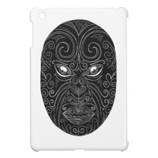 Maori Mask Scratchboard iPad Mini Cover