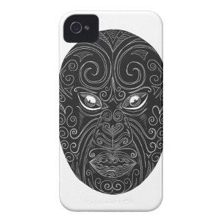 Maori Mask Scratchboard iPhone 4 Cases