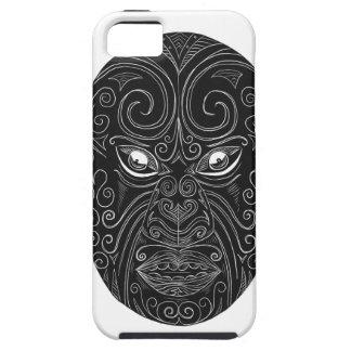Maori Mask Scratchboard Tough iPhone 5 Case