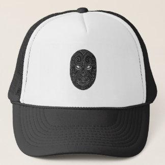 Maori Mask Scratchboard Trucker Hat