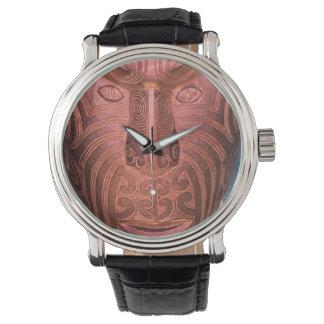 Maori mask watch