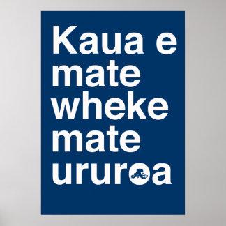 Maori Proverb Poster