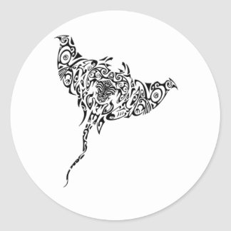 Maori Ray Classic Round Sticker