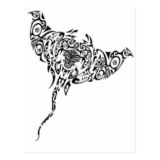Maori Ray Postcard