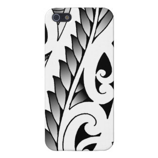 Maori silverfern tattoo pattern with fern leafs iPhone 5/5S cases