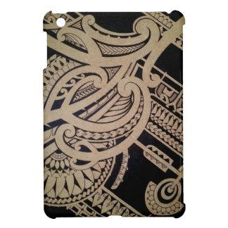 Maori tattoo art on wood iPad mini covers