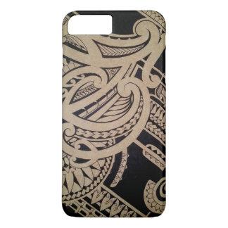 Maori tattoo art on wood iPhone 7 plus case