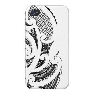 Maori tattoo design iPhone 4 cases