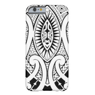 Maori tattoo design with tribal patterns barely there iPhone 6 case