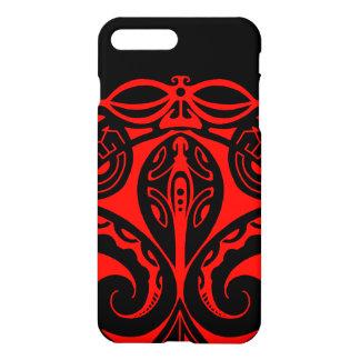 Maori tiki tattoo with tribal lizard design iPhone 7 plus case