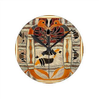 Maori Tribal Animal Spirits Round Clock