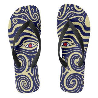 Maori Tribal Indian Flip Flops - Zorries