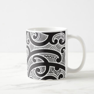 Maori Tribal Tattoo Pattern Coffee Mug