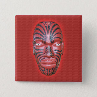 Maori War Canoe Figurehead - Button