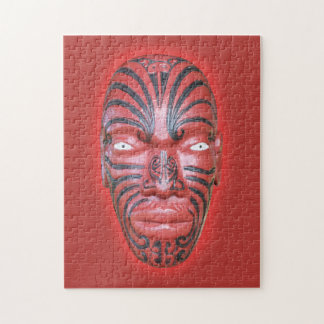 Maori War Canoe Figurehead Jigsaw Puzzle