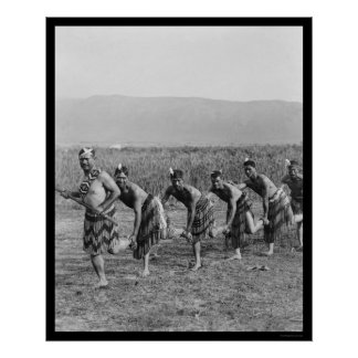 Maori War Dance 1917 Poster
