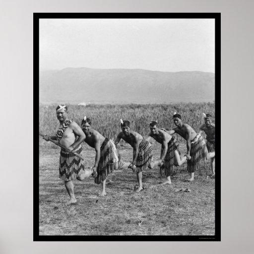 Maori War Dance 1917 Posters