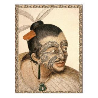 Maori Warrior about 1784 Postcard