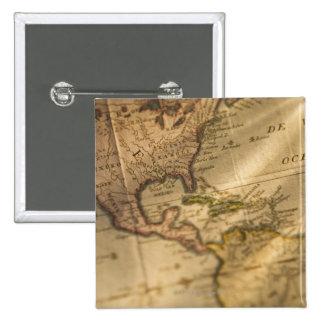 Map 15 Cm Square Badge