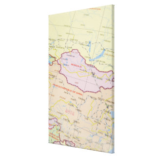 Map 2 stretched canvas print
