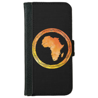 Map Africa iPhone 6 Wallet Case
