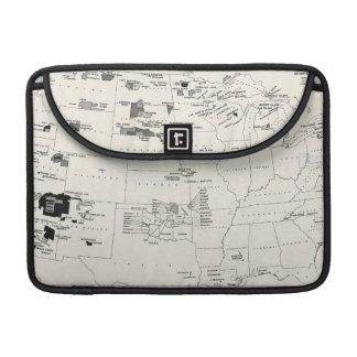 MAP: AMERICAN INDIANS 2 SLEEVES FOR MacBook PRO
