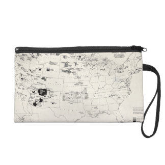MAP: AMERICAN INDIANS 2 WRISTLET CLUTCH