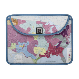 MAP: AMERICAN INDIANS SLEEVE FOR MacBooks