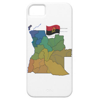 Map and Flag of Angola iPhone 5 Cover