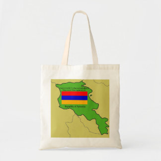 Map and Flag of Armenia