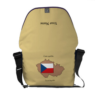Map and Flag of Czech Republic Rickshaw Messenger Commuter Bags