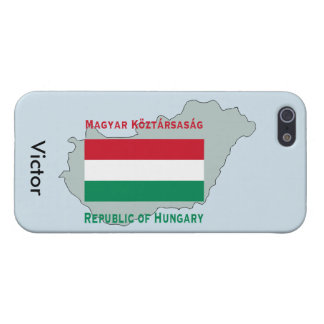 Map and Flag of Hungary iPhone 5 Cover